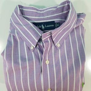 Ralph Lauren Purple White Stripe Shirt I720